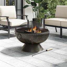 Tuscola Firebowl Steel Wood Burning Fire Pit | Wayfair North America