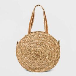 Straw Circle Tote Handbag - Universal Thread™ Natural | Target