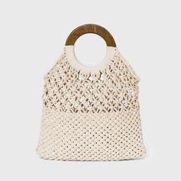 Circle Handle Crochet Tote Handbag - A New Day™ | Target
