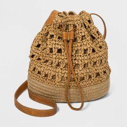 Straw Drawstring Closure Bucket Bag - Universal Thread™ | Target