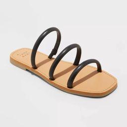 Women's Wren Triple Strap Sandals - A New Day™ | Target