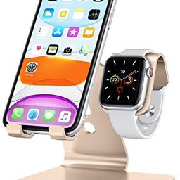Apple Watch Stand, OMOTON 2 in 1 Universal Desktop Stand Holder for iPhone and Apple Watch Series... | Amazon (US)