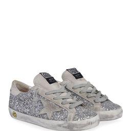 Girl's SuperStar Glitter Suede Sneakers, Toddler/Kids   Neiman Marcus