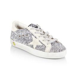 Golden Goose Baby's, Little Kid's & Kid's Superstar Glitter Sneakers - Glitter Silver - Size 5 (Baby   Saks Fifth Avenue