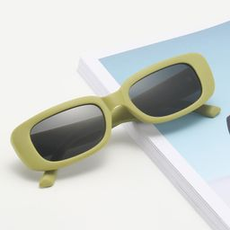 Square Frame Tinted Lens Sunglasses | SHEIN