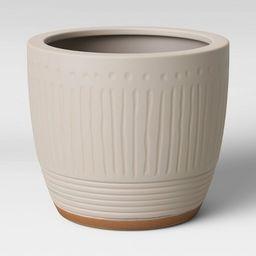 Textured Ceramic Planter White - Opalhouse™   Target