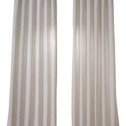 HPD Half Price Drapes FHLCH-VET13192-96 Heavy Faux Linen Curtain (1 Panel), 50 X 96, Barley | Amazon (US)
