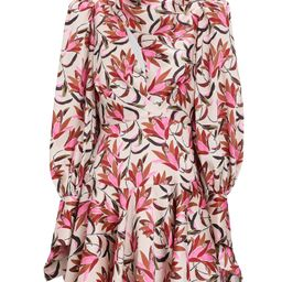 Acler Coleman Floral Satin Mini Dress, Multi 2   INTERMIX