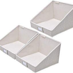 StorageWorks Woven Diamond Collapsible Storage Bins, Trapezoid Storage Basket, Open Storage Bin f... | Amazon (US)