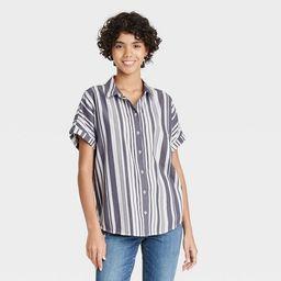 Women's Dolman Short Sleeve Button-Down Shirt - Universal Thread™ | Target