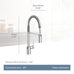 5923EWBL Align Pull Down Touchless Single Handle Kitchen Faucet with MotionSense and PowerClean T... | Wayfair North America