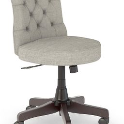 Bush Furniture Key West Mid Back Tufted Office Chair, Light Gray Fabric | Amazon (US)