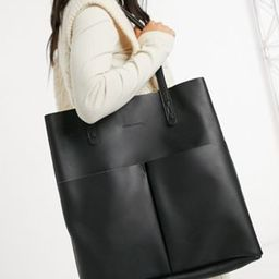 Claudia Canova unlined two pocket tote bag with removable pouch in black   ASOS (Global)