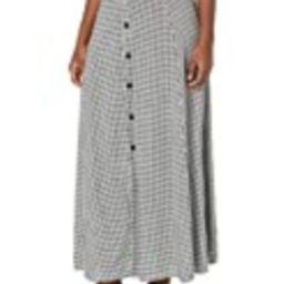 Body Glove Women's Lisa Cover Up Maxi Skirt, Black Gingham, Small | Amazon (US)