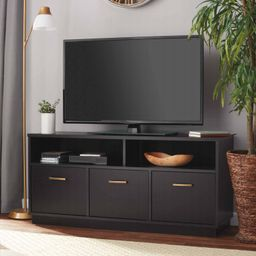 """Mainstays 3-Door TV Stand Console for TVs up to 50"""", Blackwood Finish 