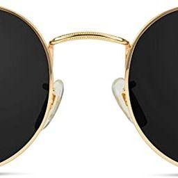 WearMe Pro - Reflective Lens Round Trendy Sunglasses | Amazon (US)