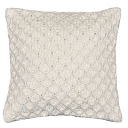 "Better Homes & Gardens Sweater Knit Decorative Throw Pillow, 17"" x 17"", Ivory | Walmart (US)"