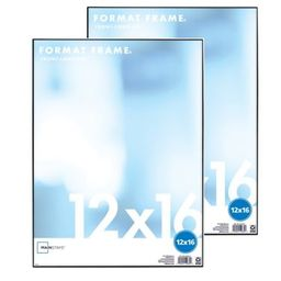 "Mainstays 12"" x 16"" Format Picture Frame, Black Finish, Set of 2 | Walmart (US)"