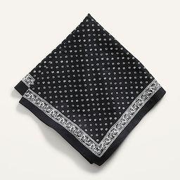 Printed Poplin Neckerchief for Women   Old Navy (US)
