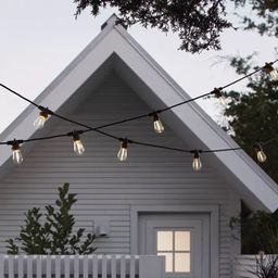 10ct LED Outdoor Non- Drop String Lights Black - Smith & Hawken™   Target