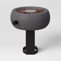"""11"""" Round Hammered Outdoor Tabletop Fire Pit - Threshold™   Target"""