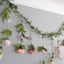Hanging Flower Backdrop, Wedding Flower Garland, Wedding Ceremony Backdrop, Silk Flower Garland, ... | Etsy (US)