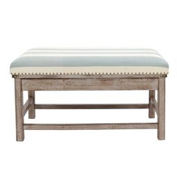 Farley Upholstered Weathered Ottoman Driftwood - Décor Therapy | Target