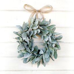 MINI Lambs Ear Wreath-Small Wreath-Lambs Ear Wreath-Window Wreath-Small Wreath-Country Cottage Wr... | Etsy (US)