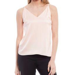 Kenna Sandwashed Stretch Silk-Blend V-Neck Sleeveless Blouse | Dillards