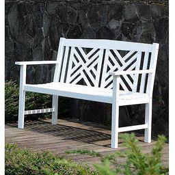 Mainstays 4' Lattice Bench, White | Walmart (US)