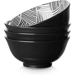 ZONESUM 23 Ounce Cereal Bowls, Ceramic Soup Bowls, Porcelain Bowls for Kitchen, Japanese Bowls fo... | Amazon (US)
