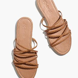The Kathryn Espadrille Slide Sandal in Leather   Madewell