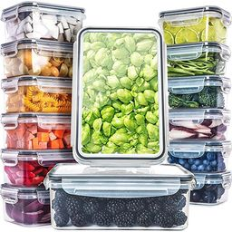 Fullstar (14 Pack) Food Storage Containers with Lids - Plastic Food Containers with Lids - Plasti... | Amazon (US)