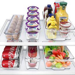 Sorbus Fridge Bins and Freezer Bins Refrigerator Organizer Stackable Food Storage Containers BPA-... | Amazon (US)