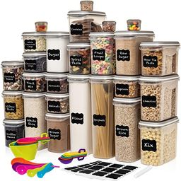 LARGEST Set of 52 Pc Food Storage Containers (26 Container Set) Shazo Airtight Dry Food Space Sav... | Amazon (US)