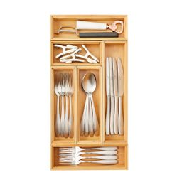 """9"""" x 18"""" Bamboo Drawer Organizer Starter Kit 