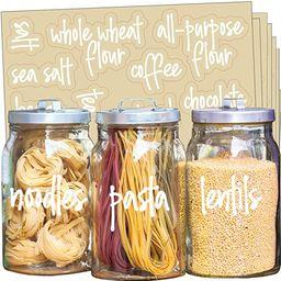 Talented Kitchen 157 White Script Pantry Labels – Kitchen Pantry Names. Food Label Sticker, Wat... | Amazon (US)