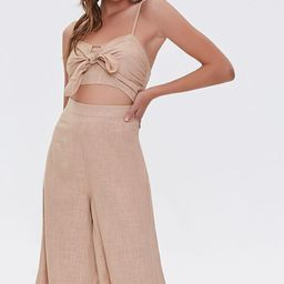 Knotted Cutout Culotte Jumpsuit | Forever 21 (US)