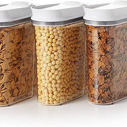 OXO Good Grips 3-Piece Airtight POP Cereal Dispenser Set, Clear, 3 Piece Cereal Set [Dispenser] | Amazon (US)