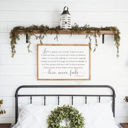 Love is Patient Sign | Large Bedroom Sign | Farmhouse Decor | Wedding Gift | Wedding Decor | Farm... | Etsy (US)