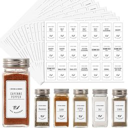 Aozita White 399 Printed Spice Jar Labels Stickers, Extra Write-on Labels for DIY, Farmhouse Wate... | Amazon (US)