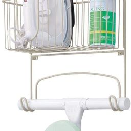 mDesign Metal Wall Mount Ironing Board Holder with Large Storage Basket - Easy Installation, Hold... | Amazon (US)