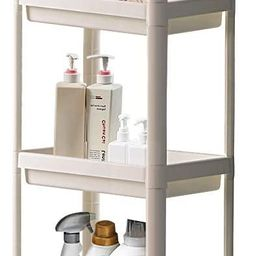 TCHANHOME Laundry Room Rolling Cart Slide Out Mobile Shelves Organizer 4 Tier Storage Utility Tow... | Amazon (US)