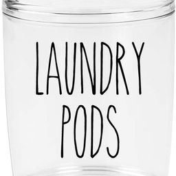 Black - Laundry Pods Vinyl Decal - Skinny Farmhouse Style for Laundry Room - 5w x 5.5h inches - D... | Amazon (US)