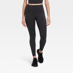 """Women's Sculpted Linear Laser Cut High-Waisted 7/8 Leggings 25"""" - All in Motion™ 