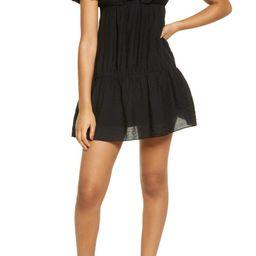 Puff Sleeve Taffeta Dress | Nordstrom