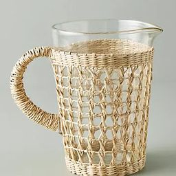 Seagrass-Wrapped Pitcher | Anthropologie (US)