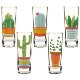 Party Shot Glasses - Cactus Shot Glasses with Colorful Print for Cinco de Mayo Tequila Fiesta- Se... | Target
