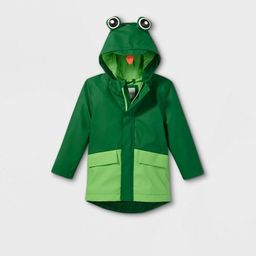 Toddler Boys' Frog Rain Jacket - Cat & Jack™ Green | Target