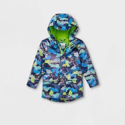 Toddler Boys' Camo Rain Jacket - Cat & Jack™ Blue | Target